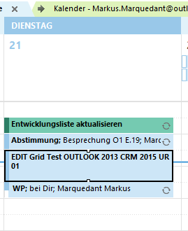 Show CRM Fields into an Outlook Appointment, Emails or Task